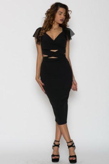Top dama Valerie negru