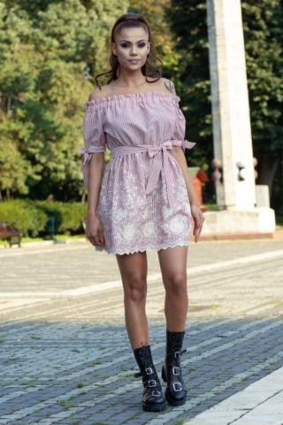 Rochie casual SARA roze