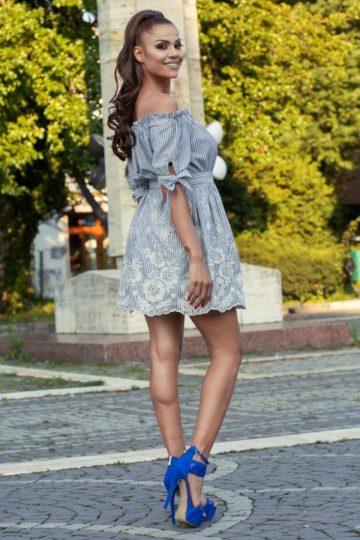 Rochie casual SARA blue