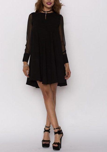 Rochie de seara scurta Mirela neagra