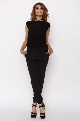 Bluza dama neagra cu lant Yana