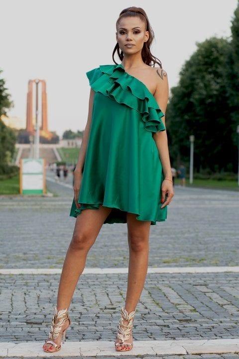 Rochie eleganta Charisma verde
