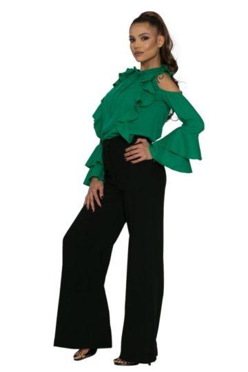 Bluză dama volane Ciello verde