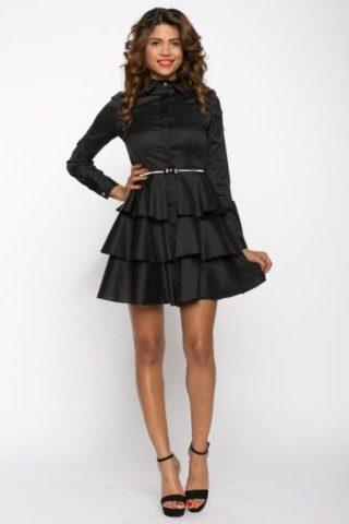 Rochie de zi Bia neagra