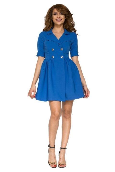 Rochie casual CORALIA albastru