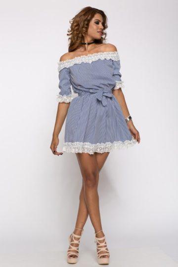 Rochie casual Silvie albastra