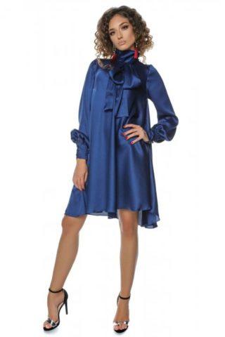 Rochie eleganta albastra clos Anyela