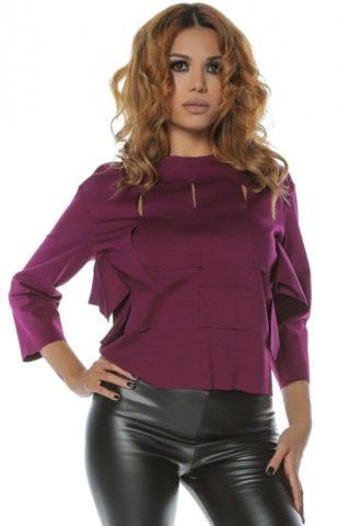 Bluza dama casual mov Clary