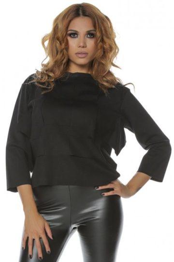 Bluza dama casual neagra Clary