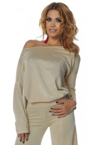 Bluza dama aurie Magnifique