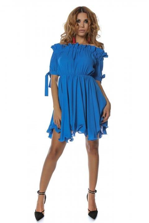 Rochie eleganta Carina albastra