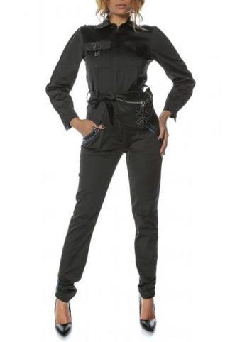 Salopeta dama evazata neagra Pocket