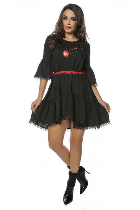 Rochie de zi neagra Rihanna 2