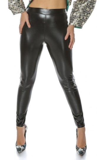 Pantaloni dama negri latex Looney