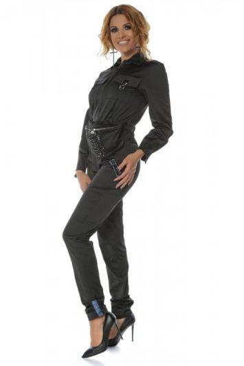 Salopeta dama neagra casual Pocket 2