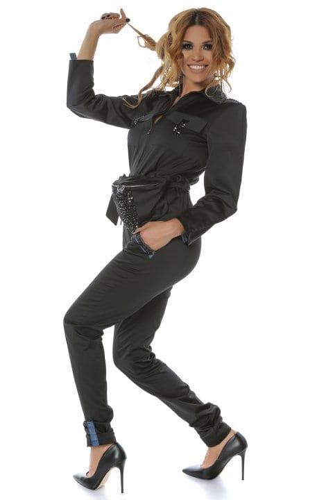 Salopeta dama neagra casual Pocket 3