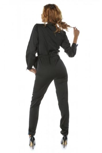 Salopeta dama neagra casual Pocket