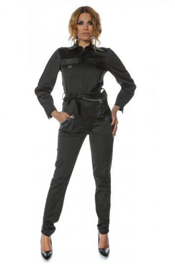 Salopeta dama neagra casual Pocket 4