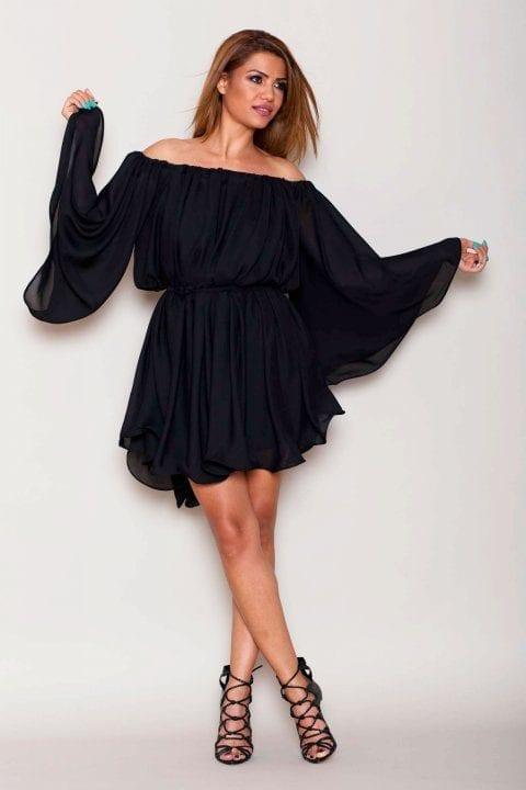 Rochie de seara midi Muse neagră