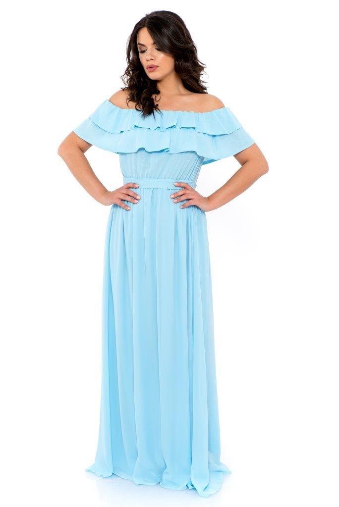 Rochie De Seara Lunga Heaven Blue Inna B Clothing