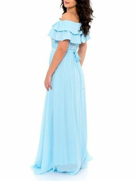 Rochie De Seara Lunga Heaven Blue 3 480x720
