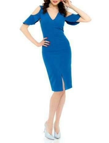 Rochie scurta albastra, Thelma, Albastru, INNA B.