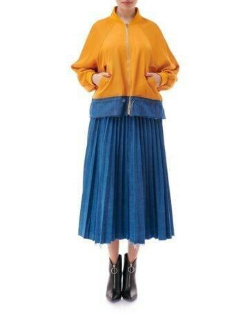 Jacheta sport ajustabila in doua culori, oranj, Mandarin, INNA B.