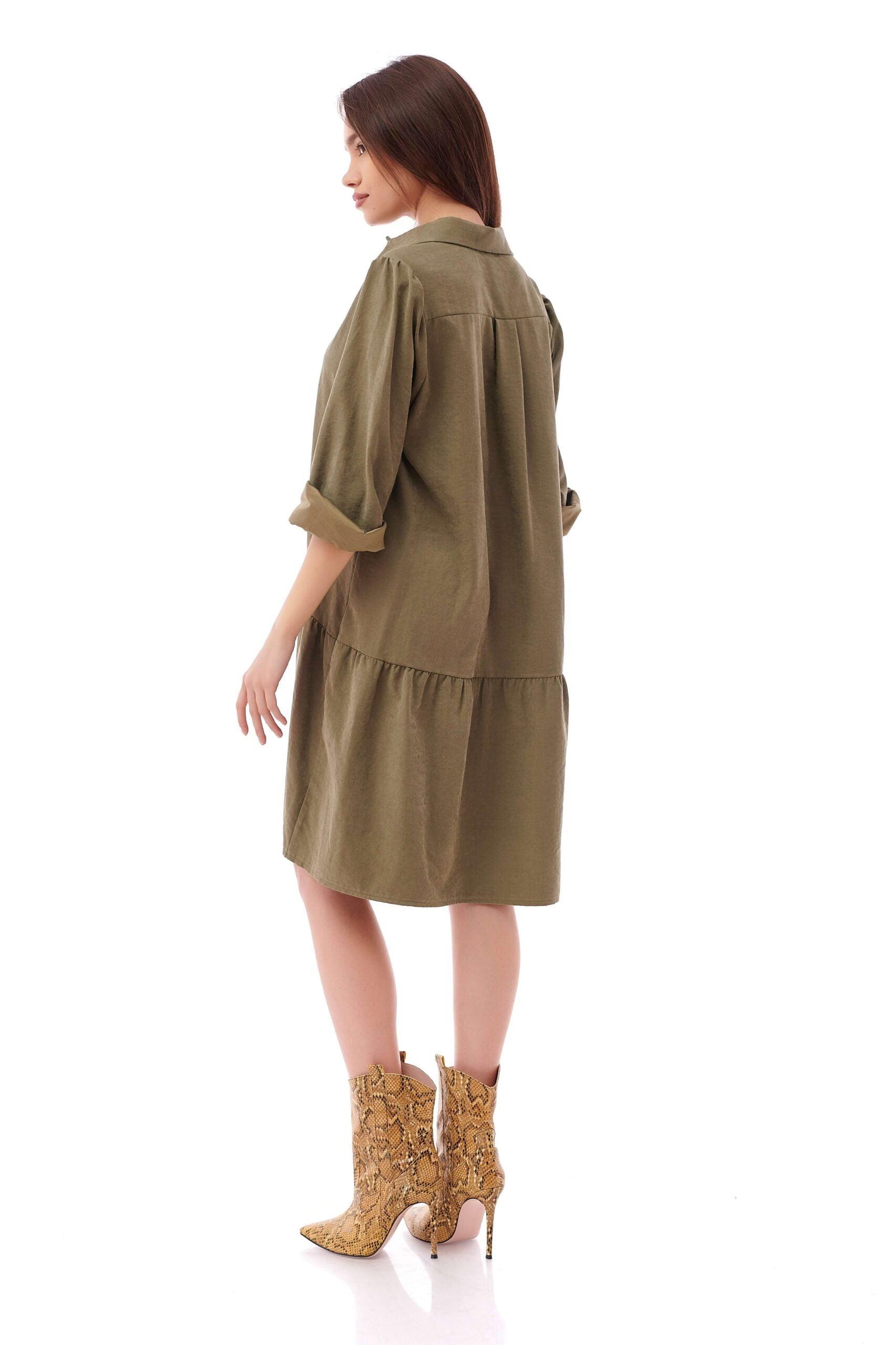 Rochie de zi casual Macy Khaki INNA B 5