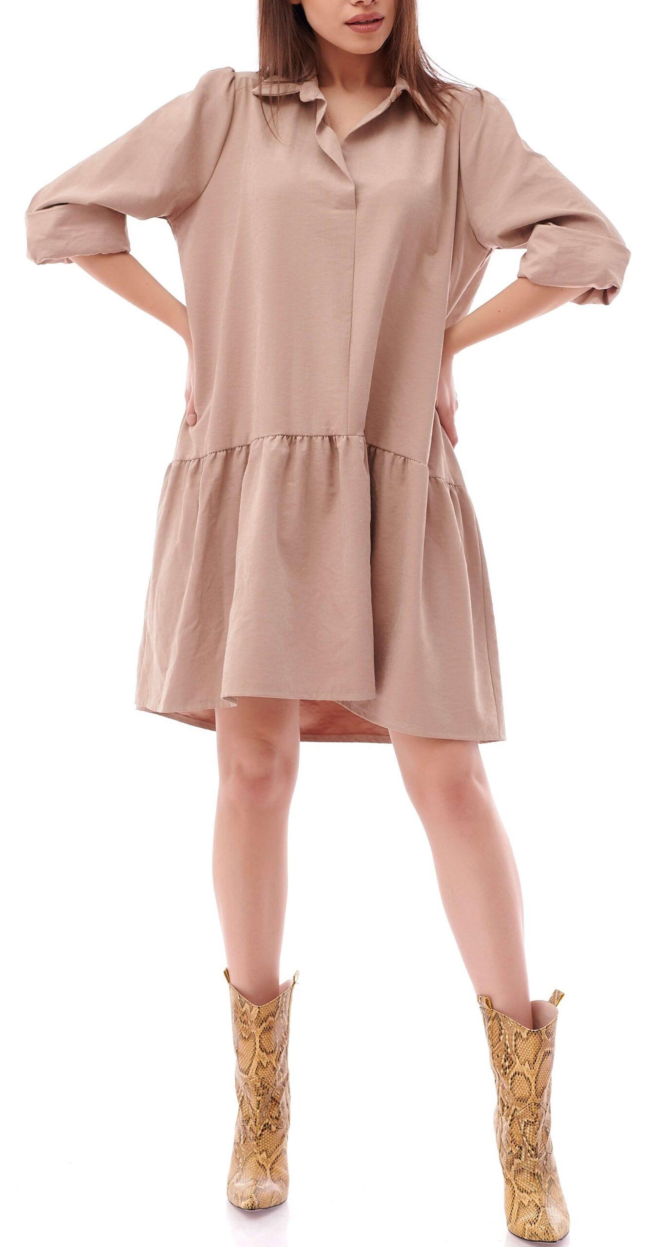Rochie de zi casual Macy Nude INNA B 2 Copie