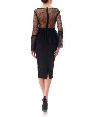 Top Elegante Dama Dyansty Inna B Negru (1)