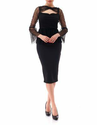 Top Elegante Dama Dyansty Inna B Negru (2)