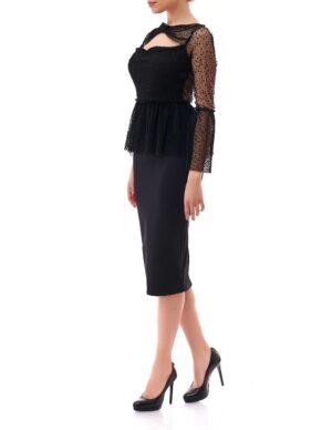 Top Elegante Dama Dyansty Inna B Negru (3)